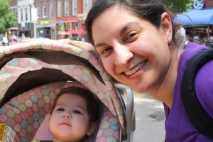 Coraline and Mommy on Market Square