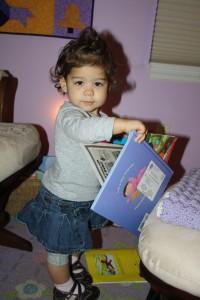Coraline choosing bedtime stories