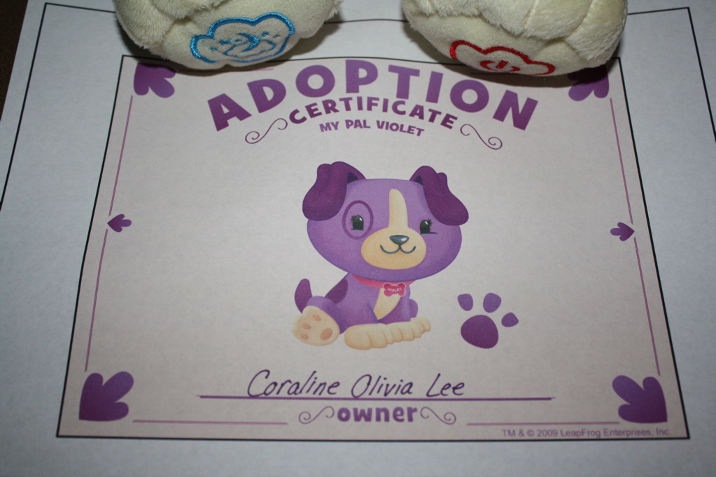 violet legally adopted