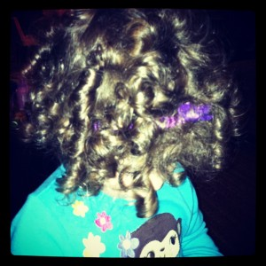 Coraline's hair at 13 months old, 6 1/2 months after her hair turned curly.
