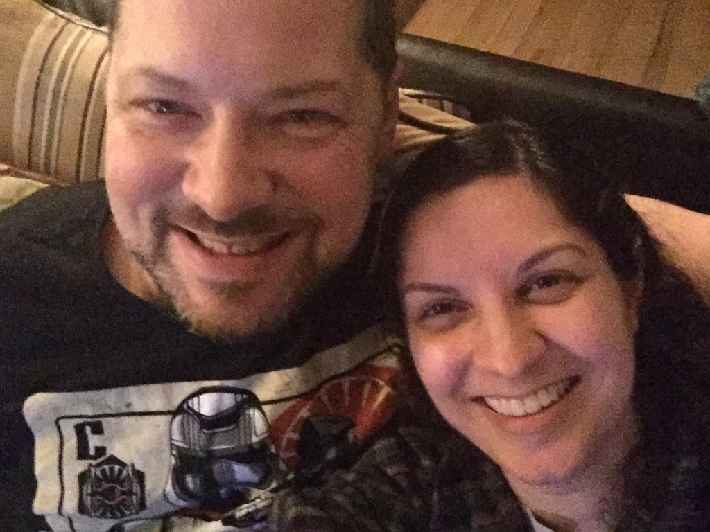 Midnight selfie with the spouse on New Year's Eve 2015